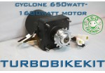 Cyclone 650watt-1680W geared motor without controller