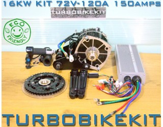 Cyclone Waterproof Insane Silent Electric Bike Kit 18000watt 18kw 72volt-120volt with Option