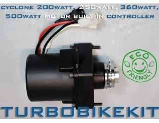 Cyclone 200watt, 250watt, 360watt, 500watt Geared Motor build in controller at 24volt