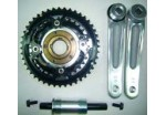 3pcs Cyclone chainwheel crank set with 444432T and Bottom Bracket