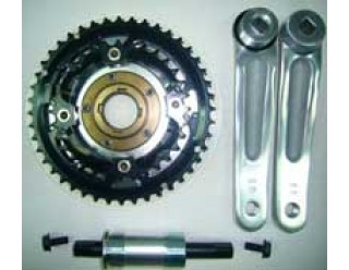 3pcs Cyclone chainwheel crank set with 484832T and ISIS crank